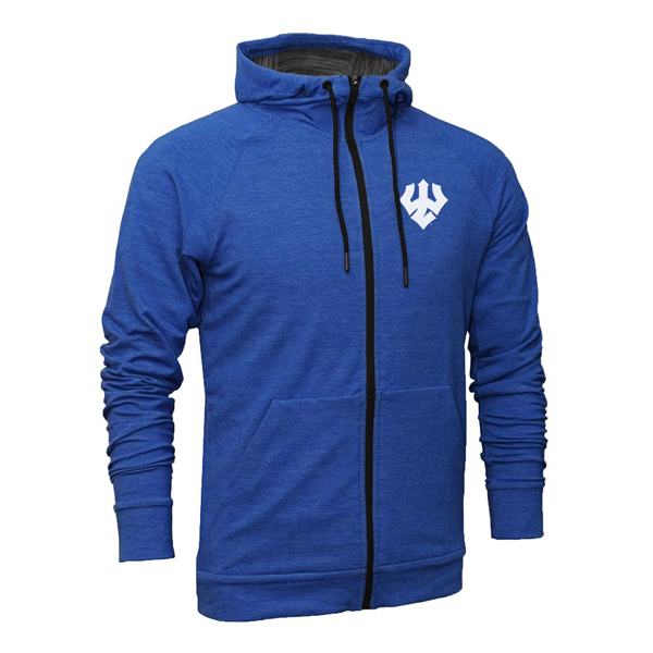 Royal Heather Full-Zip Hoodie