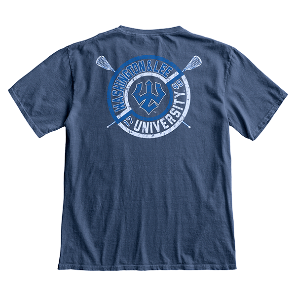 Blue 84 Ringspun Lacrosse Pocket Tee