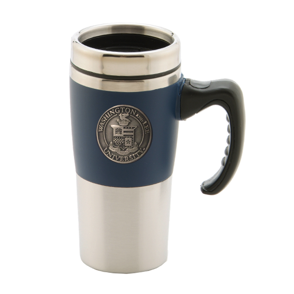 Cover Image For Travel Mug with Crest Medallion