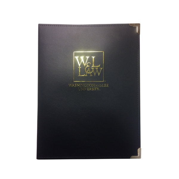 Image For Law Padfolio, Black & Gold