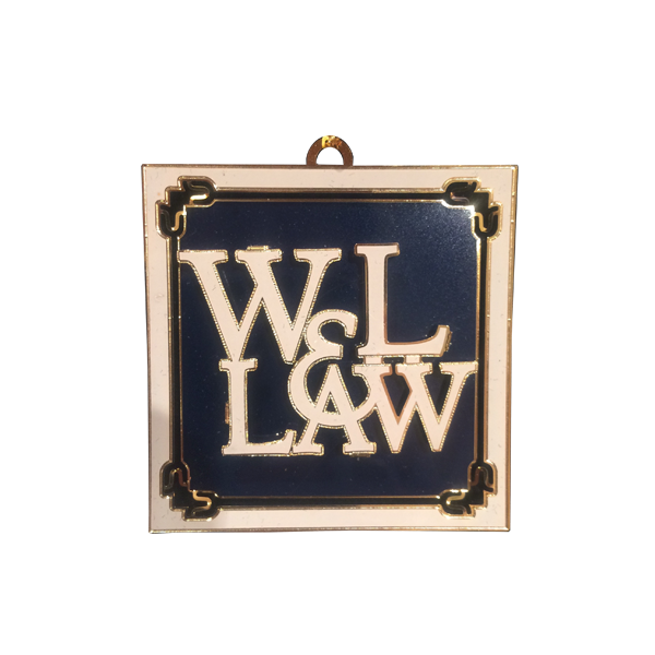 Image For W&L Law Brass Ornament