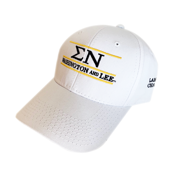 Image For Sigma Nu White Bar Hat