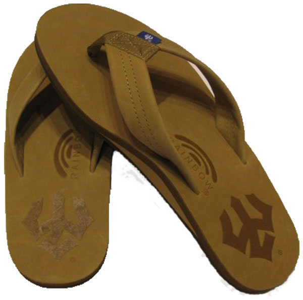 Image For Men's Custom Rainbow Sandals with Trident