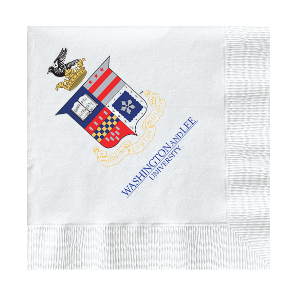 Image For Paper Napkins with Crest and Wordmark