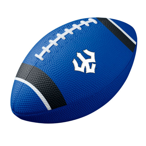 Image For Nike Mini Rubber Football with Trident, Royal