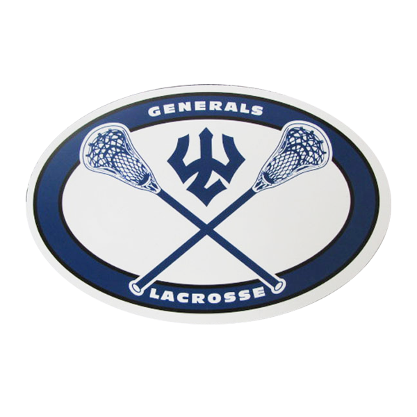 Image For Lacrosse Oval Magnet