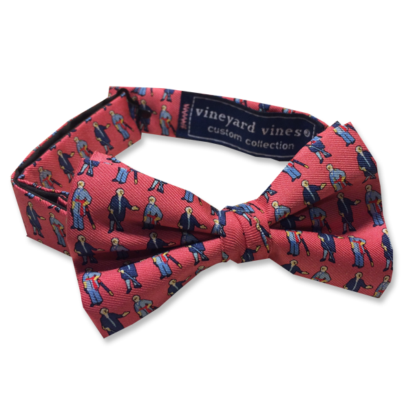 Image For Vineyard Vines Boy's George & Bob Bow Tie, Raspberry