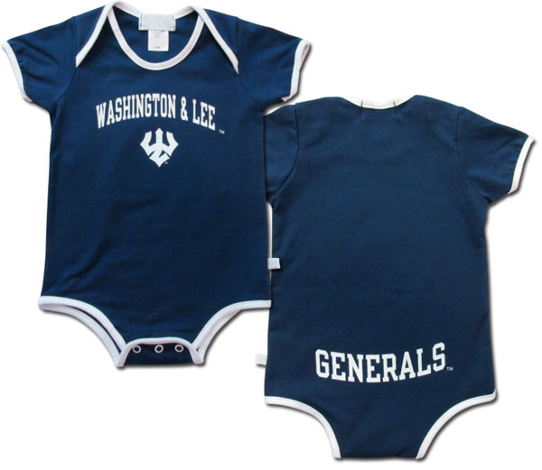 Image For Infant Onsie Solid with Generals on Back, Pink or Blue