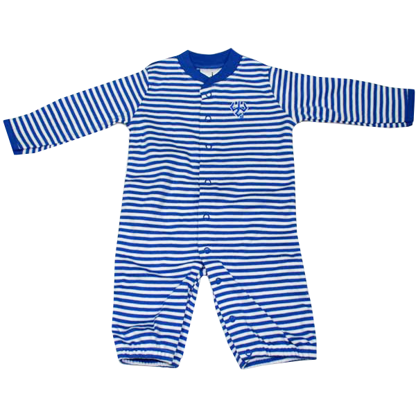 Image For Infant Striped Convertible Romper with Trident