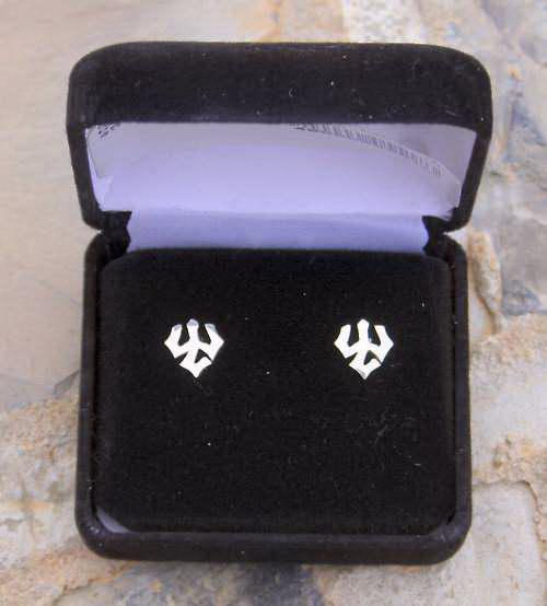Image For Post Trident Earrings, Silver