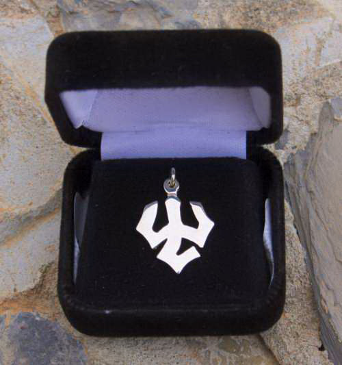 Image For Trident Charm, Silver