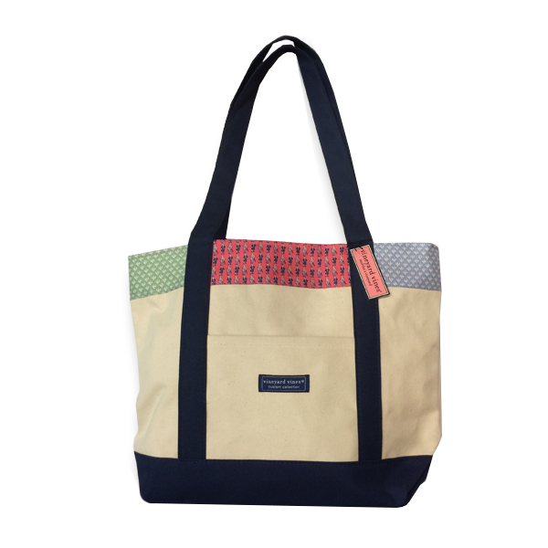 "Image For Vineyard Vines Classic ""Patchwork"" Tote Bag"