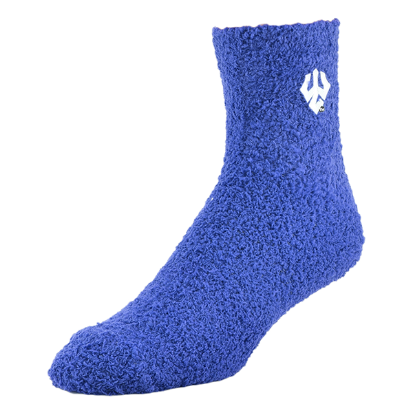 Image For Extra Cozy Fuzzy Socks, Royal