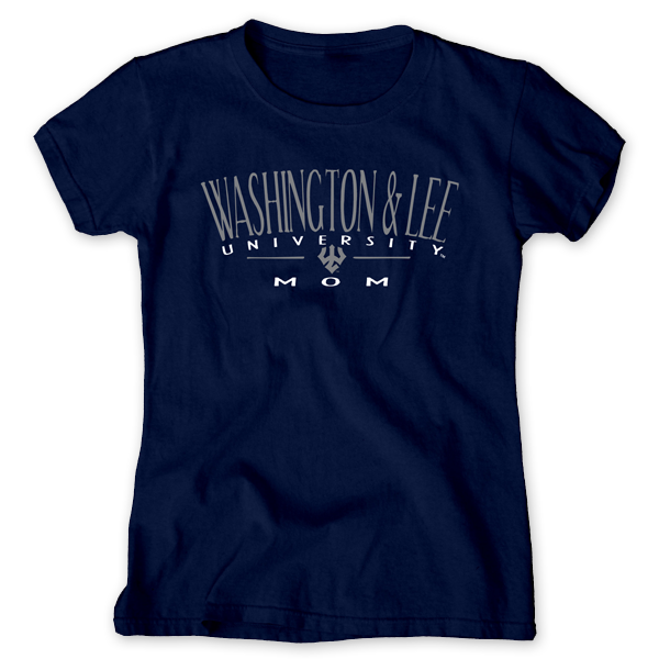 Image For Blue 84 Washington and Lee Mom Tee, Navy