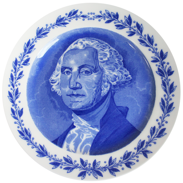 Image For Old English Staffordshire Plate Washington