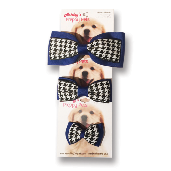 Image For Pet Bowtie, Royal & Houndstooth