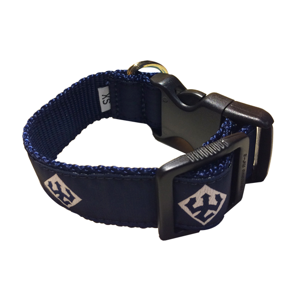 Image For Leather Man Dog Collar, Navy