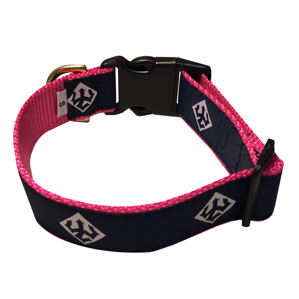 Image For Leather Man Dog Collar, Pink