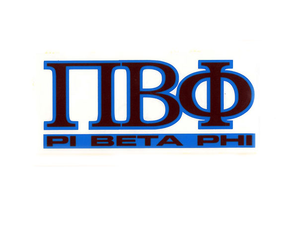 Image For Pi Beta Phi Decal