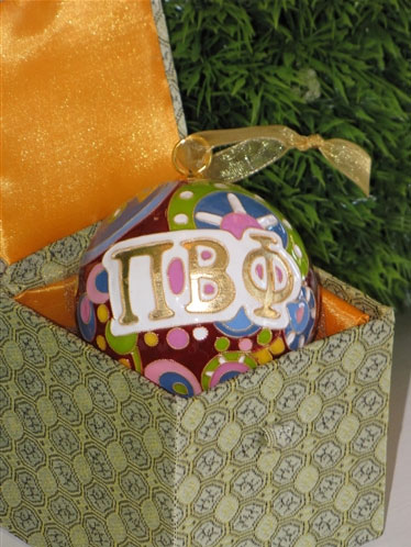 Image For Kitty Keller Pi Beta Phi Psychedelic Ornament
