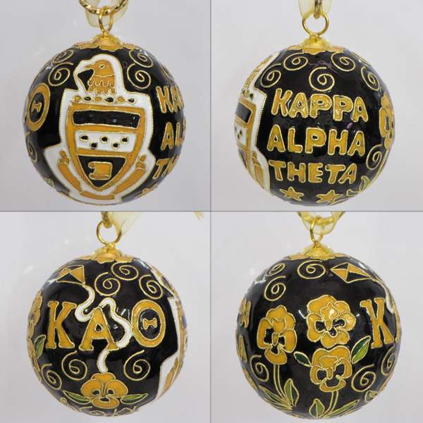 Image For Kitty Keller Kappa Alpha Theta Crest Cloisonne Ornament