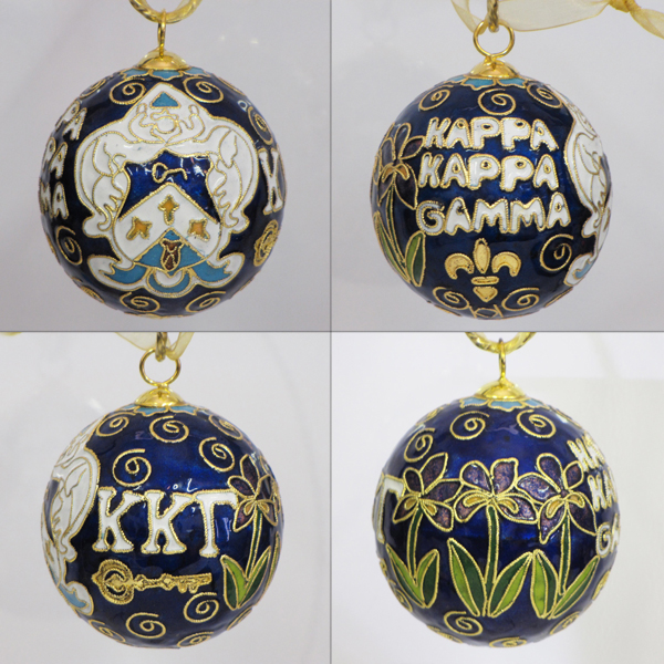 Image For Kitty Keller Kappa Kappa Gamma Crest Cloisonne Ornament