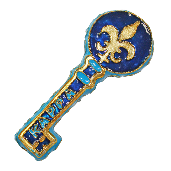 Image For Kitty Keller Kappa Kappa Gamma Key Ornament