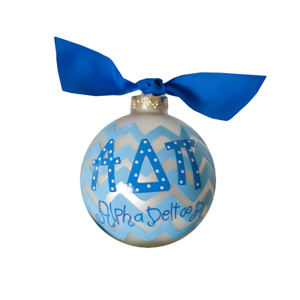 Image For Alpha Delta Pi Ball Ornament