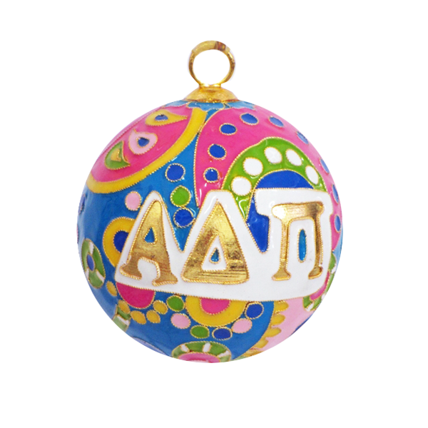 Image For Kitty Keller Alpha Delta Pi Psychedelic Ornament