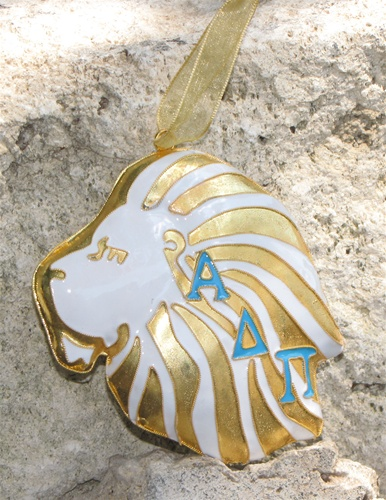 Image For Kitty Keller Alpha Delta Pi Lion Ornament