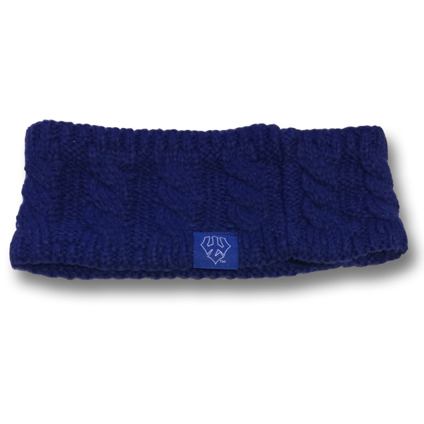 Image For Cable Knit Headband with Trident