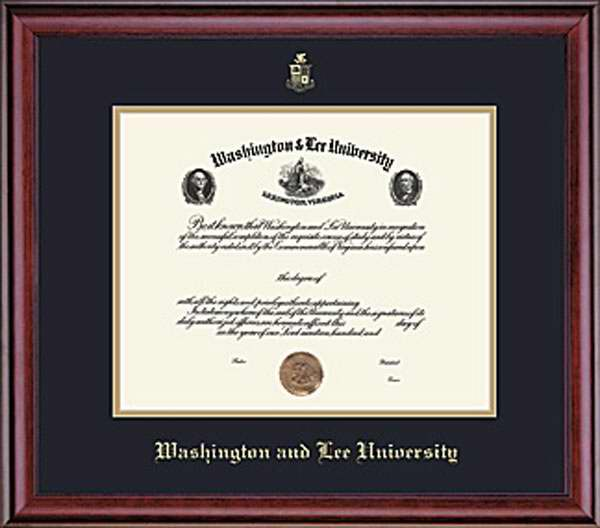 Image For W&L Undergrad Classic Diploma Frame, Conservation Glass