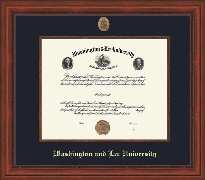 Image For W&L Undergrad Millennium Diploma Frame, Standard Glass