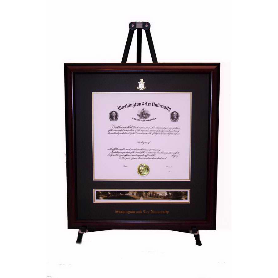 Image For W&L Undergrad Panoramic Diploma Frame, Standard Glass