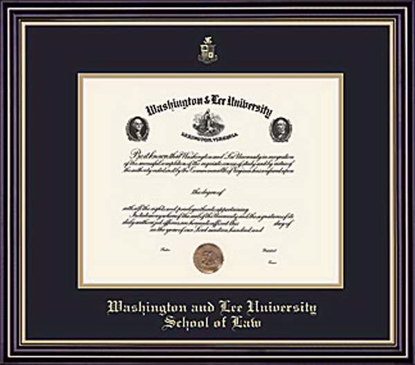 Image For W&L Law Prestige Diploma Frame, Standard Glass