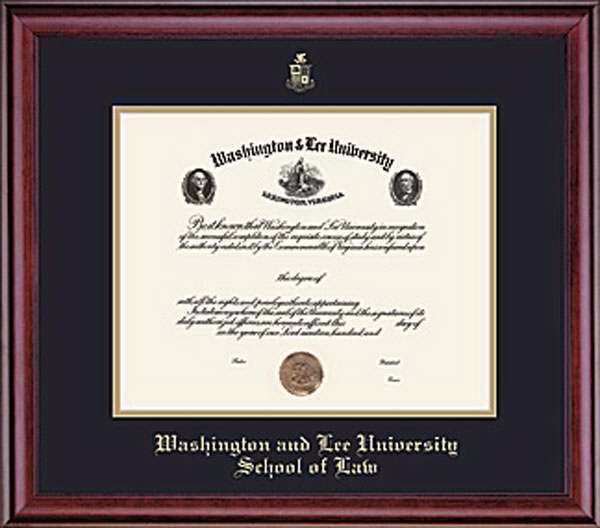 Image For W&L Law Classic Diploma Frame, Conservation Glass