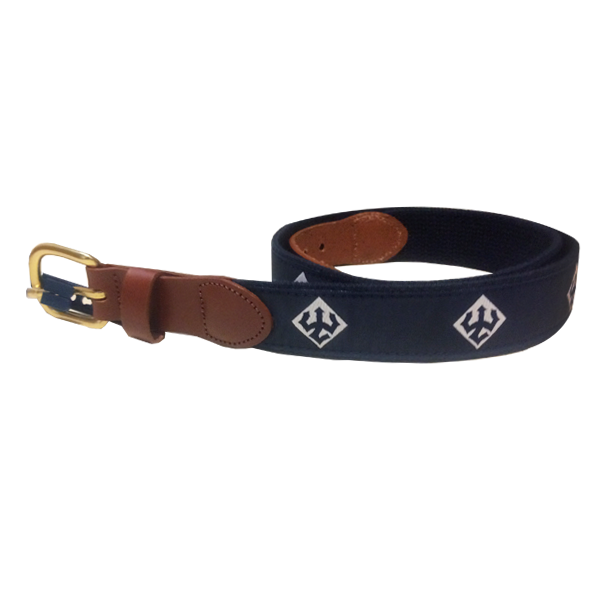 Image For Leather Man Trident Belt, Navy