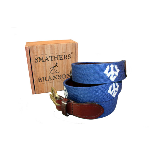 Image For Smathers & Branson Needlepoint Trident Belt
