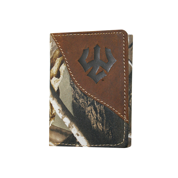 Image For Leather & Canvas Trifold Wallet, Realtree