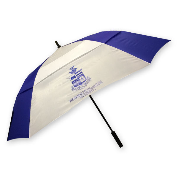 Image For Umbrella Square Crest, Royal and White