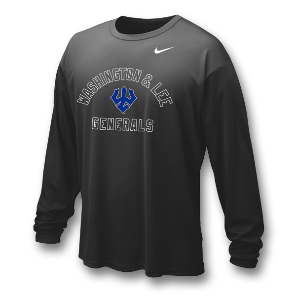 Image For Nike Dri-Fit Long Sleeve Trident Tee, Anthracite