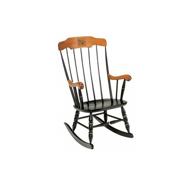 Image For Solid Maple W&L Law Rocker, One Engraved Line