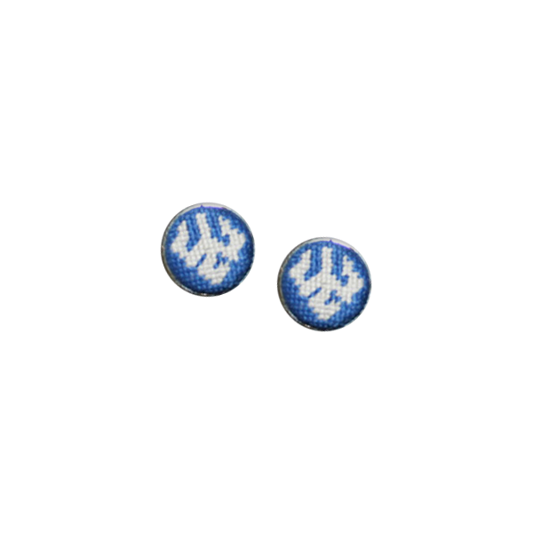 Image For Smathers & Branson Needlepoint Trident Cufflinks