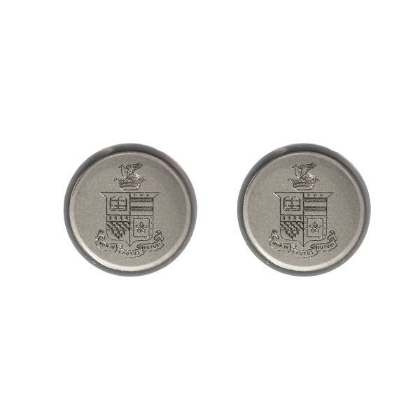 Cover Image For Jack Christopher Engraved Crest Cufflinks, Silver