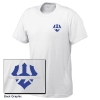 Cover Image for Blue 84 Big Back Trident Tee, White or Grey