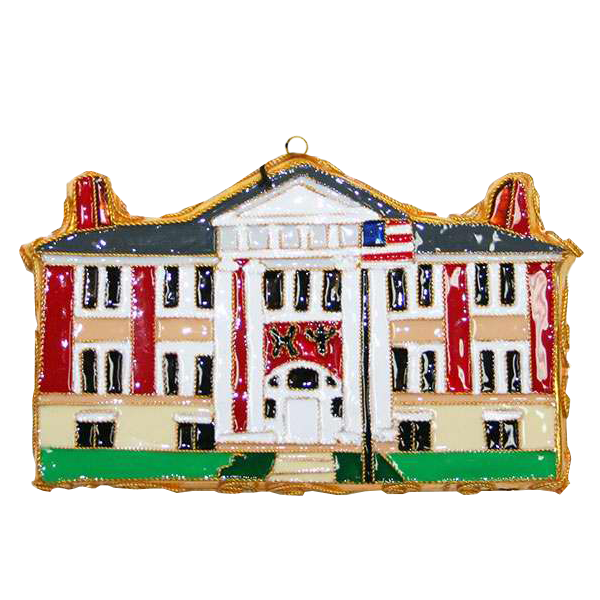 Image For Kitty Keller Chi Psi House Ornament
