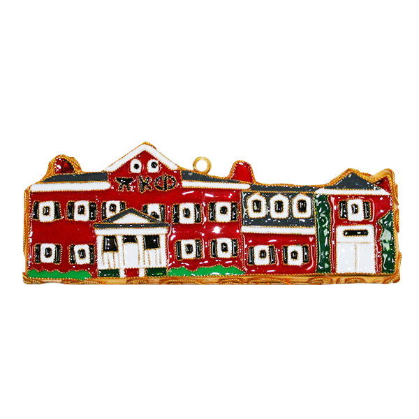 Cover Image For Kitty Keller Pi Kappa Phi House Ornament