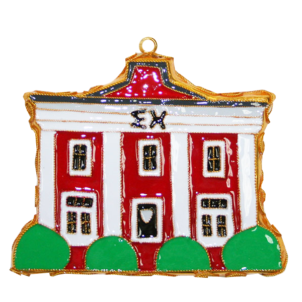 Image For Kitty Keller Sigma Chi House Ornament