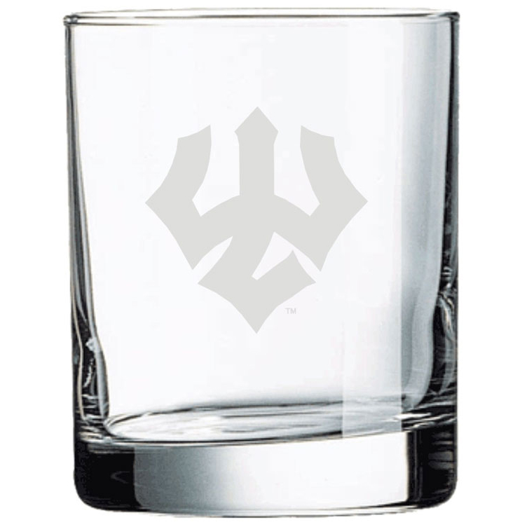 Image For Rocks Glass with Trident 11oz