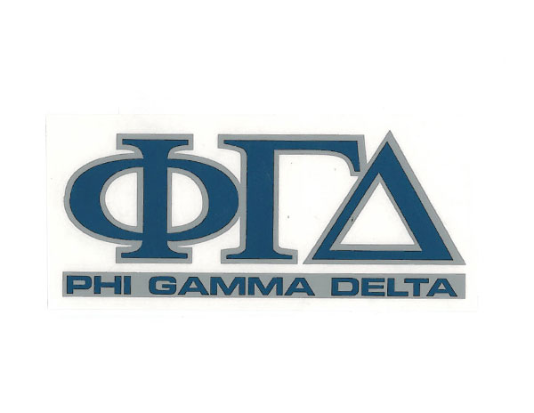 Cover Image For Phi Gamma Delta Decal
